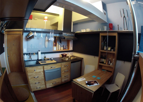 In Less Than 200 Square Feet By Dor Micro Apartment Interior