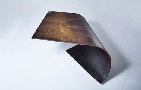 minimal steel table