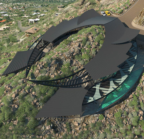 Mountain-Hugging Manta Ray House to Wrap Around Peak