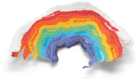 rainbow pencil shavings
