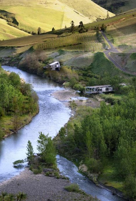 river home in landscape