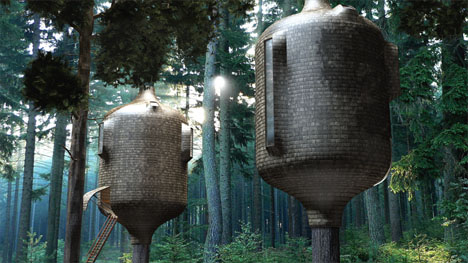 Beautiful Biomimicry: Treehouses Look Like Part of the Trees