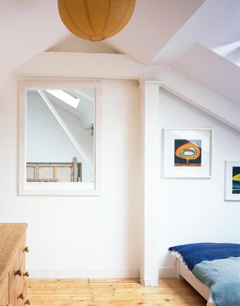window from bedroom to studio london warehouse