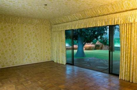 yellow bedroom bunker house