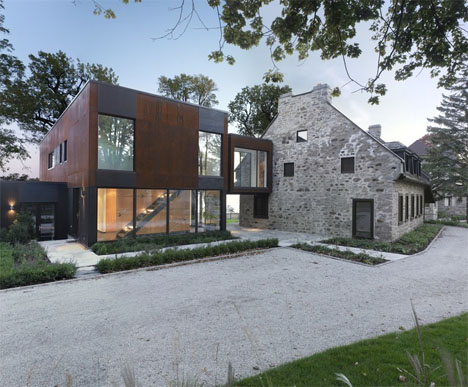Modern Steel Addition House 1