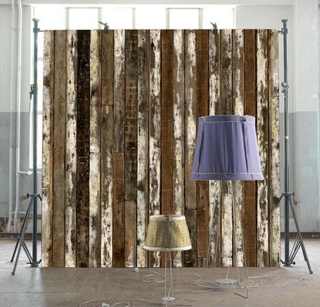Scrap Wood Texture Wallpaper 1