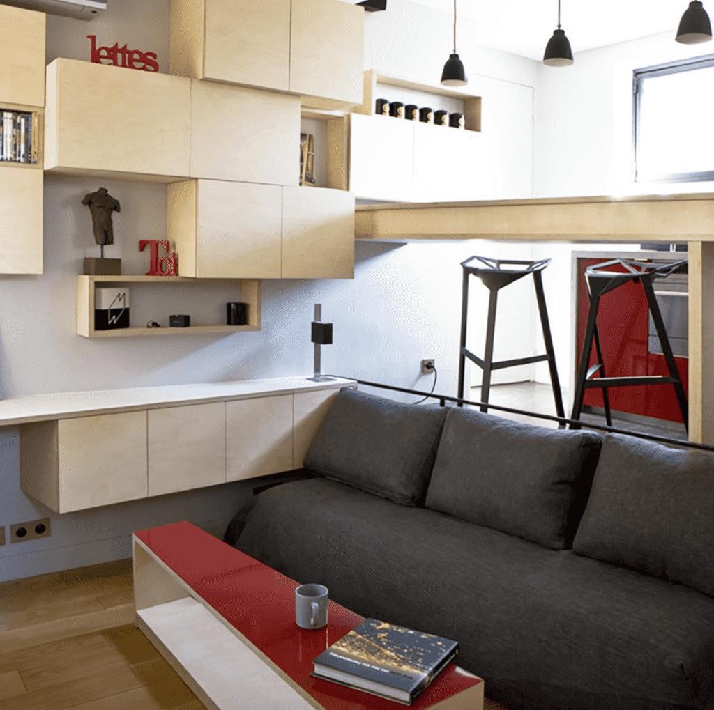 Tiny 130 Sq Ft Apartment Big On Surprises Designs Ideas On Dornob