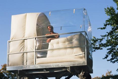 alex schweder performance architecture transparent plastic bubble