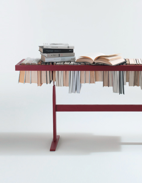 book table closeup