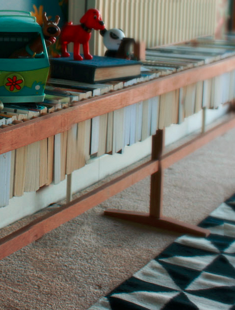 Built of Books: Recycling Old Volumes into a Table Surface
