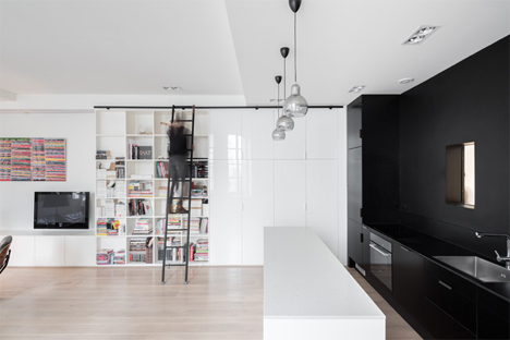 dark highlights paris apartment