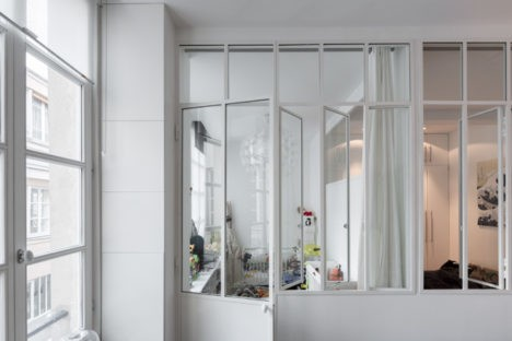 glass walls and windows paris small space apartment