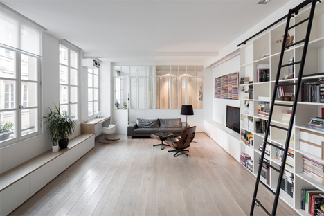 Simple But Elegant Small Storage Rich Parisian Apartment