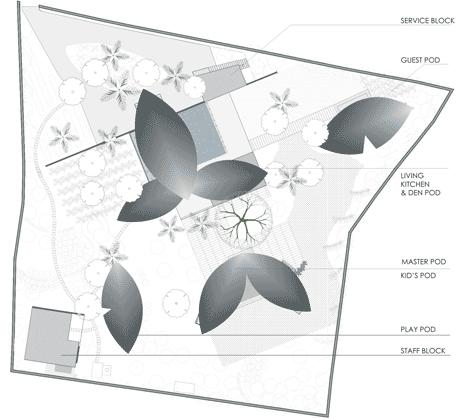 leaf house site plan