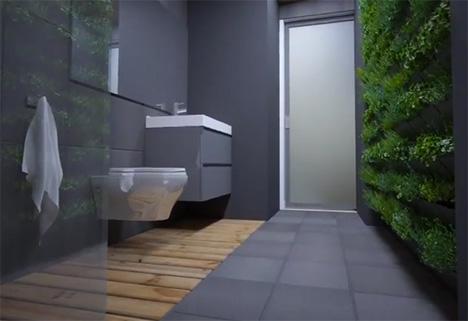 living wall sustainable borealis modular home