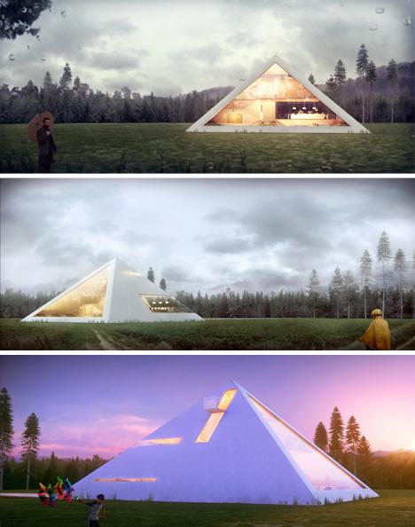 pyramid house renderings