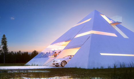 Futuristic House Awesome Futuristic Pyramid House Fit For An Ultramodern Pharaoh Review
