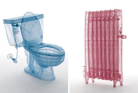 see through polyester furniture toilet radiator