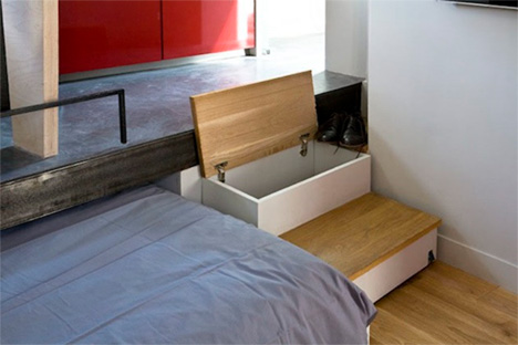 stair storage for tiny spaces
