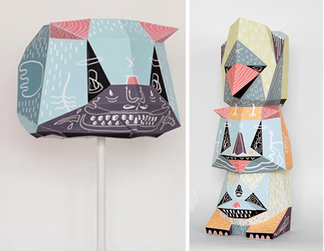 toy and totem pole poster lampshades