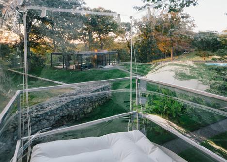 transparent bubble house