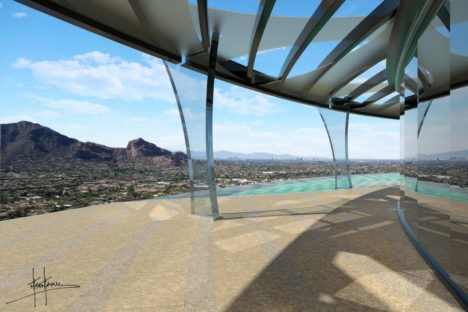 wrap-around decks mountaintop home