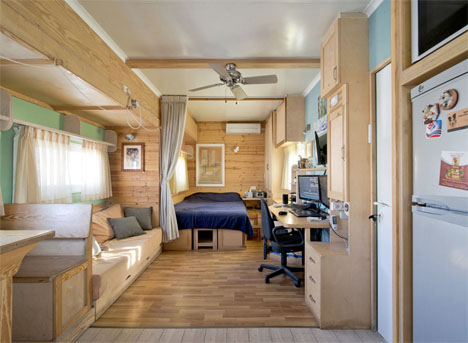 Converted Solar Truck Home 1