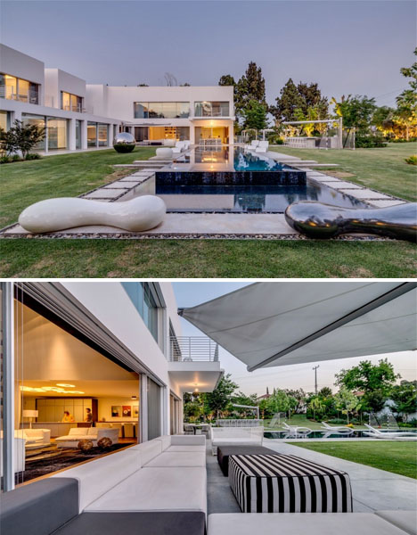 Modern Villa Offers Private Cubes to Individual Residents