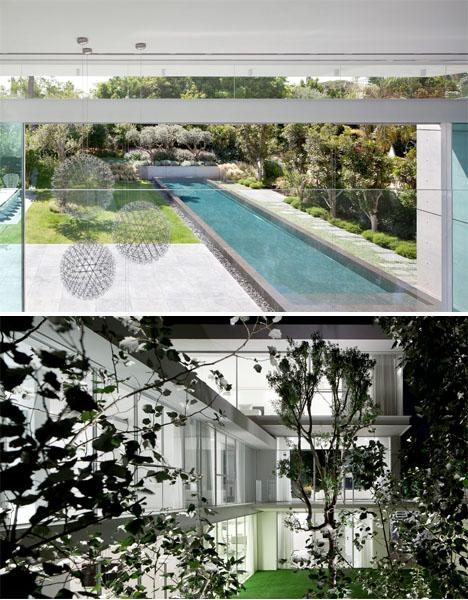 Double Courtyard Cube House 4