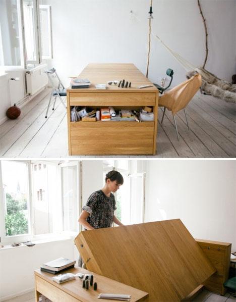 Transforming Workbed Desk 2
