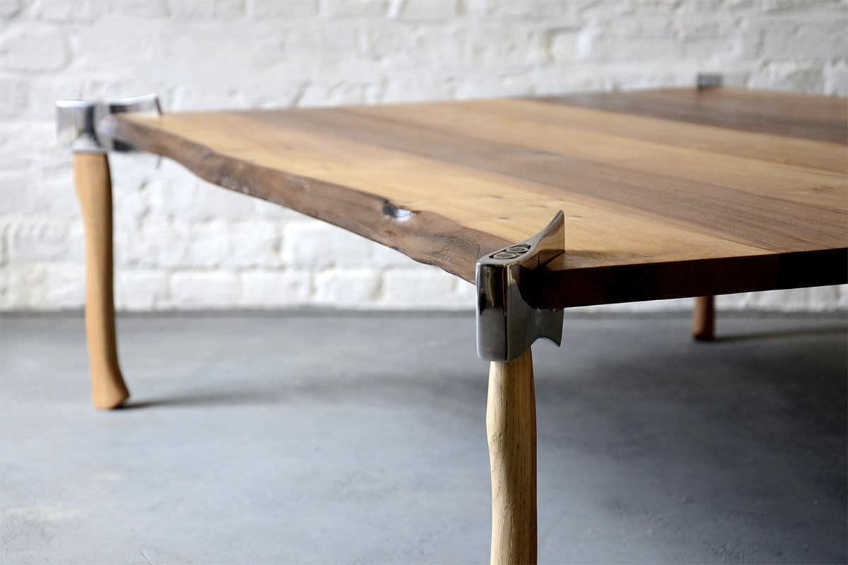 Woodsman Table Uses Axes for Legs | Designs & Ideas on Dornob