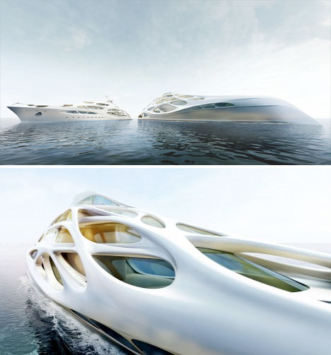 Fluid Zaha Hadid Superyacht Inspired by Organic Forms