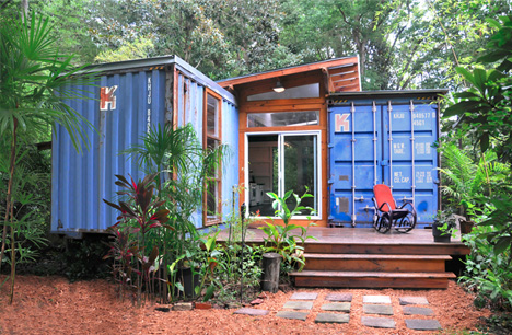 container exterior & Two-Box Home: Simple Dwelling of Dual Shipping Containers