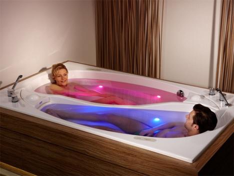 couples yin yang bathtub