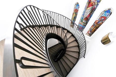 custom spiral staircase London home