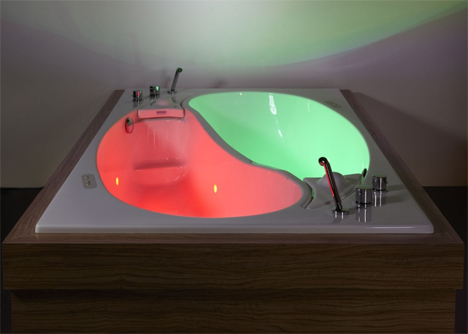 couples (color) therapy: double bathtub, dual relaxation | designs