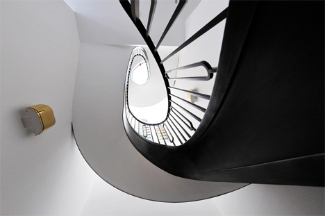spiral staircase in london home