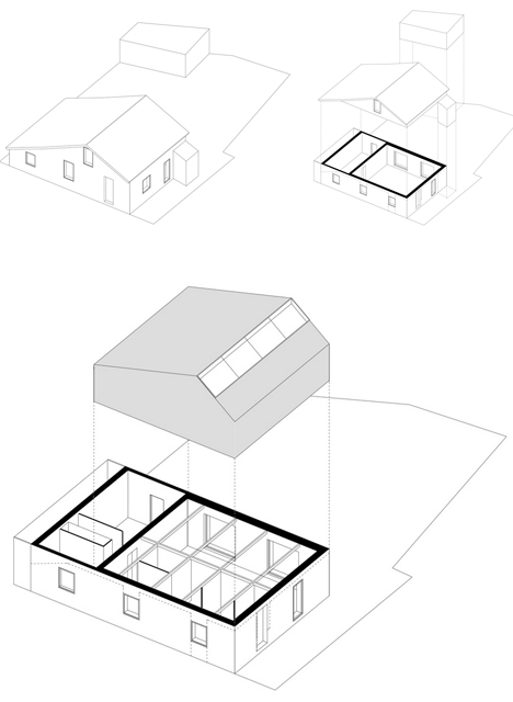 steel roof addition diagram