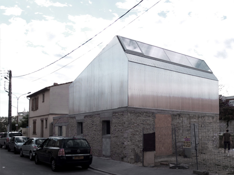 steel roof addition home
