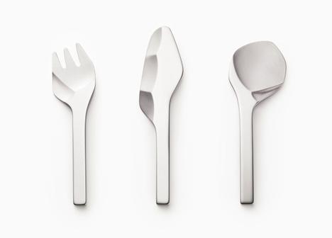 Caveman Cutlery: Knife, Fork U0026 Spoon Set Looks Prehistoric