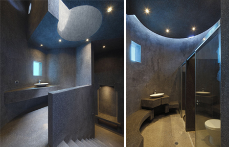 stone bathroom forever house