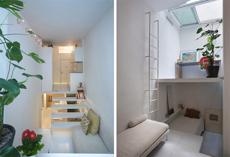 Beau Micro Apartment Uses Tiers To Maximize Tiny Living Space