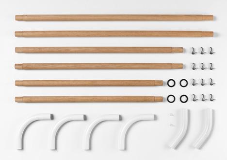 wall rack parts