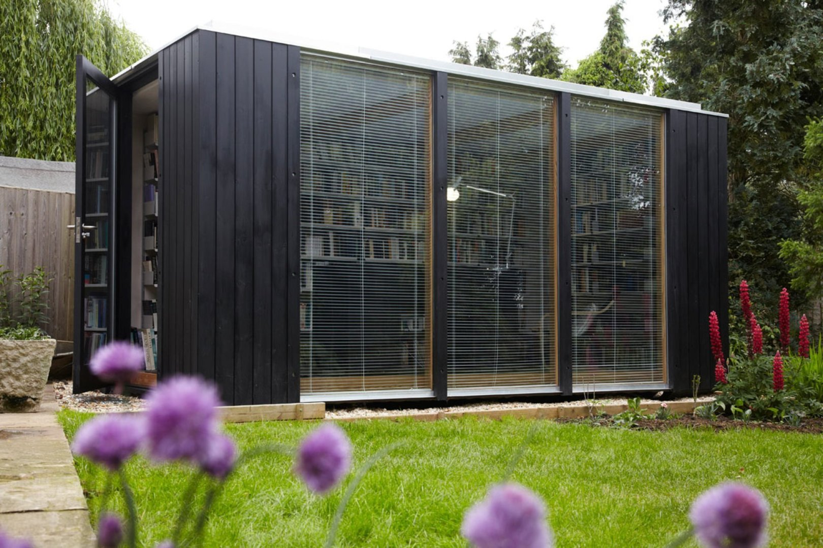 Flat Pack Pre-Fab Building Makes Stunning Backyard Library