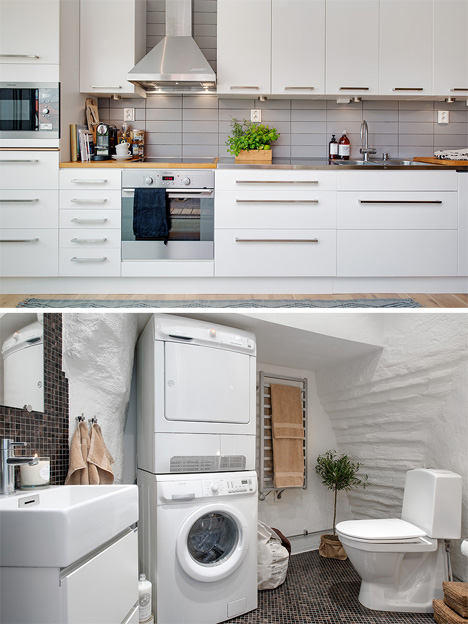 bathroom and kitchen