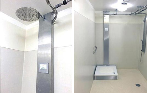 closed system recycling shower