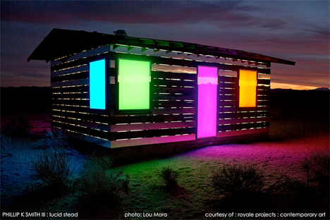 colorful mirror and LED desert cabin
