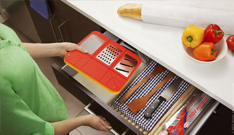 folding drawer slide