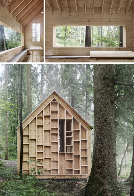 forest house inside outside