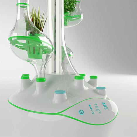futuristic apartment hydroponic garden